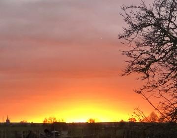 Sunset over Guilden